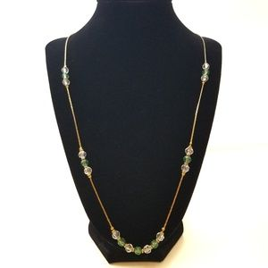 Vintage Korea Necklace Chain And Glass Beads